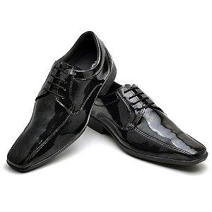 Sapato Social Comfort de Couro Legítimo Preto - Ref.70008