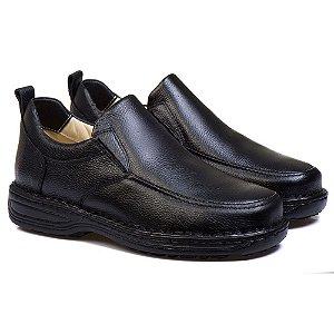 Sapato Masculino Comfort de Couro Preto - Ref. 8001