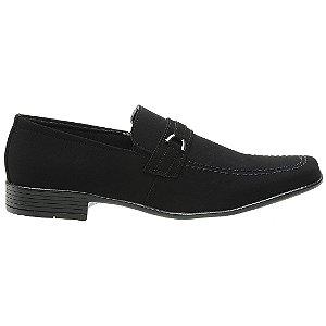 Sapato Social Nobuck Preto - Ref. 1103E