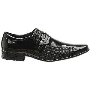 Sapato Social Verniz Preto - Ref. 1041E