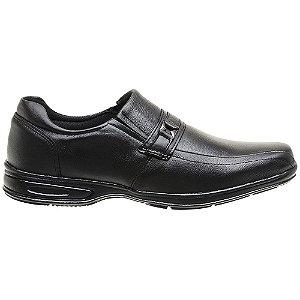 Sapato Social Em Couro Legítimo Preto - Ref. 5040