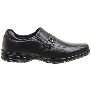 Sapato Masculino Em Couro Legítimo Preto - Ref. 5040