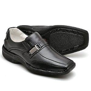 Sapato Comfort de Couro Legítimo Preto - Ref.2016