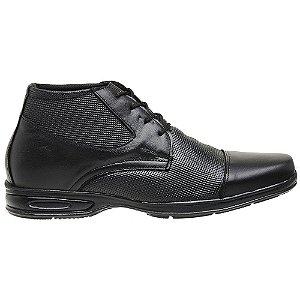 Sapato Social Masculino Em Couro Legítimo Preto - Ref. 5061