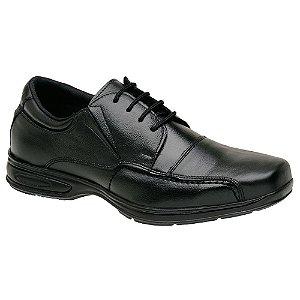 Sapato Social Masculino Em Couro Legítimo Preto - Ref. 5070