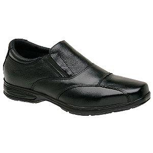 Sapato Social Masculino Em Couro Legítimo Preto - Ref. 5080