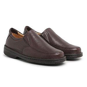 Sapato Masculino Em Couro Mestiço Café - Ref.404 Comfort Shoes