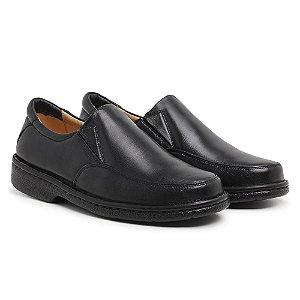 Sapato Masculino Em Couro Mestiço Preto - Ref.404 Comfort Shoes