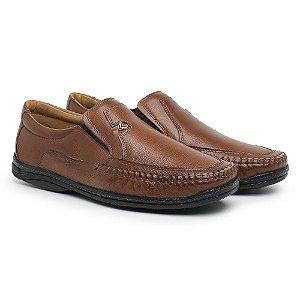 Mocassim Masculino Em Couro Legítimo Havana - Ref.5002 Comfort Shoes