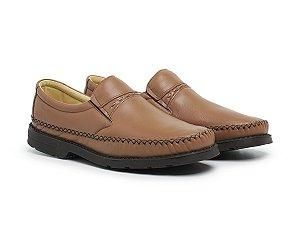 Mocassim Masculino Em Couro Legítimo Whisky - Ref.100 Comfort Shoes