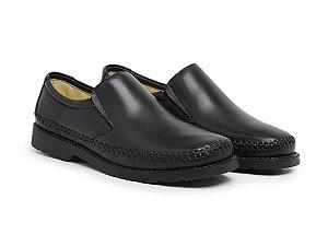 Mocassim Masculino Em Couro Legítimo Preto - Ref.101 Comfort Shoes