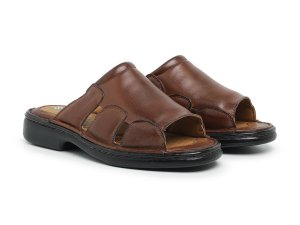 Sandália Masculina Comfort de Couro Legítimo Havana - Ref.8013 Comfort Shoes