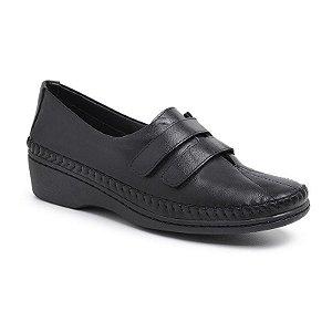 Sapato Feminino Em Couro Legítimo - Ref. 1201 Preta