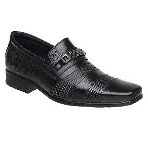 Sapato Social Masculino Em Couro Legítimo Preto - Ref. 3041