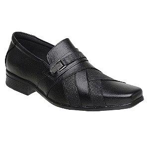Sapato Social Masculino Em Couro Legítimo Preto - Ref. 3061