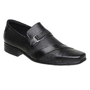 Sapato Social Masculino Em Couro Legítimo Preto - Ref. 3071