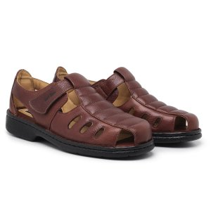 Sandália Masculina Em Couro Legítimo Havana Comfort Shoes - 310