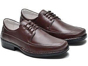 Sapato Masculino De Couro Legítimo Comfort - Ref. 001S Café