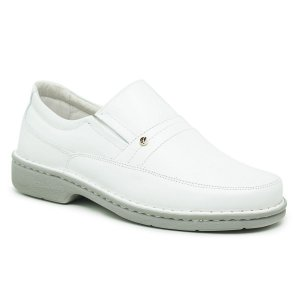 Sapato Masculino De Couro Legítimo Comfort - Ref. 1003S Branco/Gelo