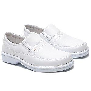 Sapato Masculino De Couro Legítimo Comfort - Ref. 1003S Branco