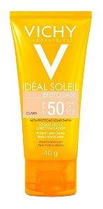Protetor Solar Facial Vichy Idéal Soleil Efeito Base FPS 50 Cor Clara 40g