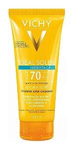 Protetor Solar Vichy Idéal Soleil Hydra Soft FPS 70 Loção 200mL