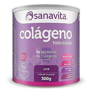 COLAGENO HIDROLISADO SANAVITA SABOR UVA 300GR
