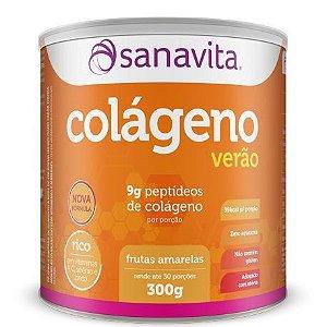 COLAGENO HIDROLISADO SANAVITA SABOR FRUTAS VERMELHAS VERAO 300GR