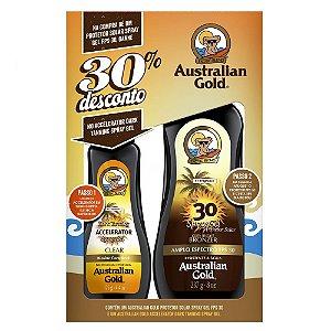 KIT ACELERADOR E BRONZEADOR AUSTRALIAN GOLD