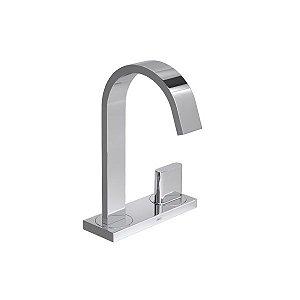 Torneira de mesa com chapa bica alta para lavatório Polo