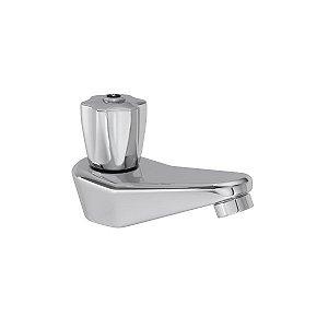 Torneira de mesa bica baixa para lavatório Prata