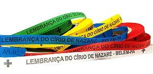 Fitinha LEMBRANÇA DO CÍRIO DE NAZARÉ. 5 rolos=500 fitas, 5 cores, 1 rolo cada cor.