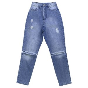 Calça Look Jeans MOM Jeans