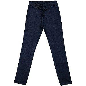 Calça Juvenil Look Jeans Legging Moletom Jeans
