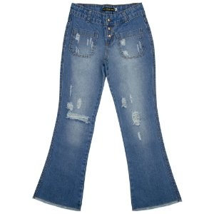 Calça Juvenil Look Jeans Flare Jeans