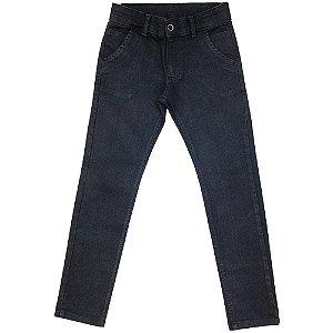 Calça Juvenil Look Jeans Skinny Preto