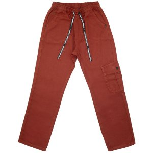Calça Juvenil Look Jeans Sarja Bolso Utilitário Collor