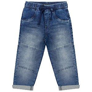 Calça Infantil Look Jeans Moletom Jeans