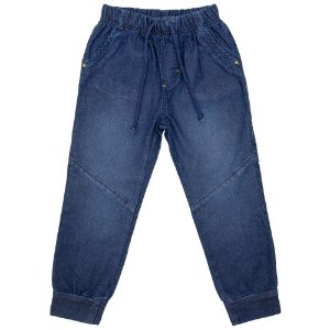 Calça Infantil Look Jeans Moletom c/ Silk Jeans