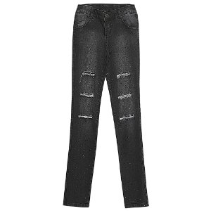 Calça Look Jeans Skinny Jeans Black