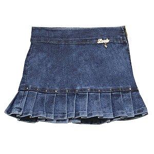 Saia Look Jeans c/ Prega Jeans