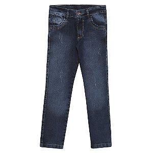 Calça Look Jeans Skinny Azul
