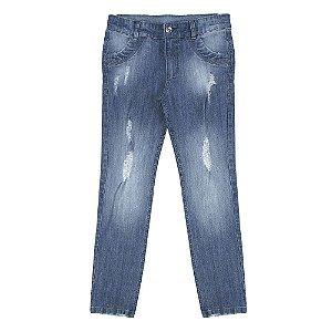 Calça Look Jeans Super Skinny Azul
