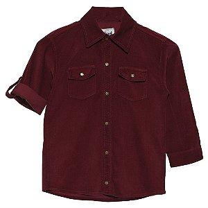 Camisa Look Jeans Veludo