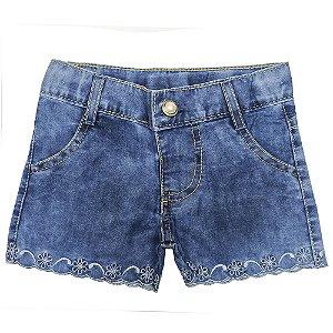 Shorts Look Jeans c/ Barrado Jeans