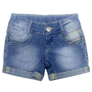 Shorts Look Jeans Barra Dobrada Jeans