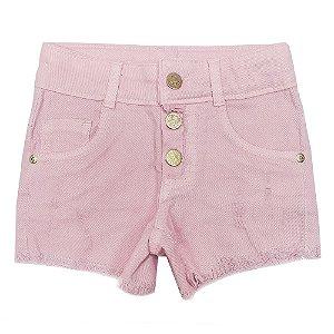Shorts Look Jeans c/ Botão Collor