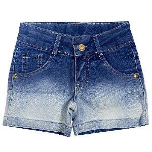 Short Look Jeans Degradê Jeans