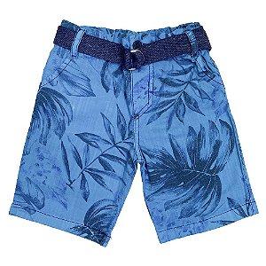 Short Look Jeans c/ Cinto Collor