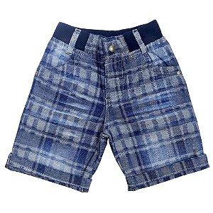 Bermuda Look Jeans c/ Punho Jeans
